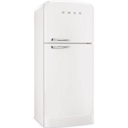 Frigider cu 2 usi No Frost Smeg FAB50RWH, retro, alb, A++, 80 cm latime