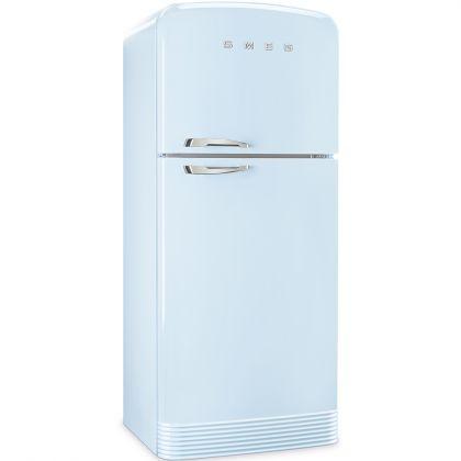 Frigider cu 2 usi No Frost Smeg FAB50RPB, retro, albastru, A++, 80 cm latime