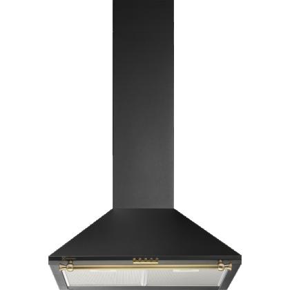 Hota semineu Electrolux EFC216R, 60 cm, neagra, retro