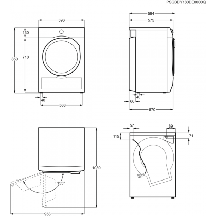 Uscator de rufe Electrolux EW6C527P, 7 kg, clasa B, condensare