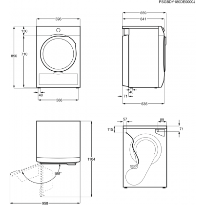 Uscator de rufe Electrolux PerfectCare800 EW8HS259S, 9 kg, aburi, A++, pompa de caldura, inverter