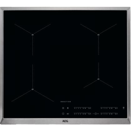 Plita incorporabila inductie AEG IAE64413XB, 60 cm, conectivitate hota, rama inox
