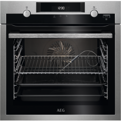 Cuptor incorporabil electric AEG BCE556350M, plus steam, catalitic, proba de carne, inox