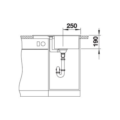 Chiuveta de bucatarie Blanco METRA 45 S COMPACT silgranit, alumetalic, 519563, 68 cm, fara sistem Aqua Stop
