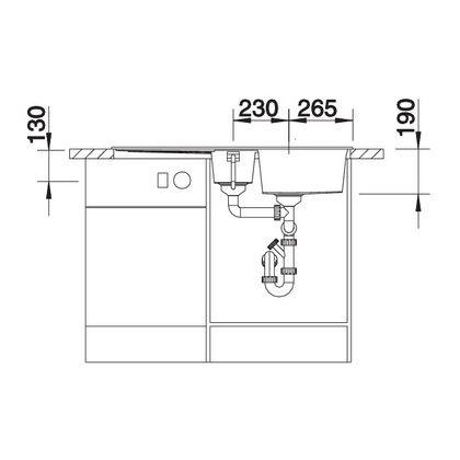 Chiuveta de bucatarie Blanco METRA 6 S silgranit, antracit, 513230, 100 cm