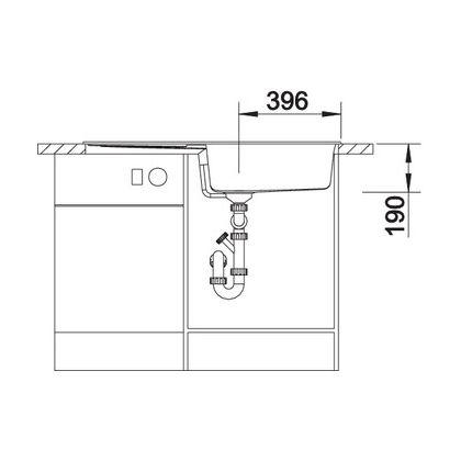 Chiuveta de bucatarie Blanco METRA XL 6 S silgranit, gri perlat, 520580, 100 cm