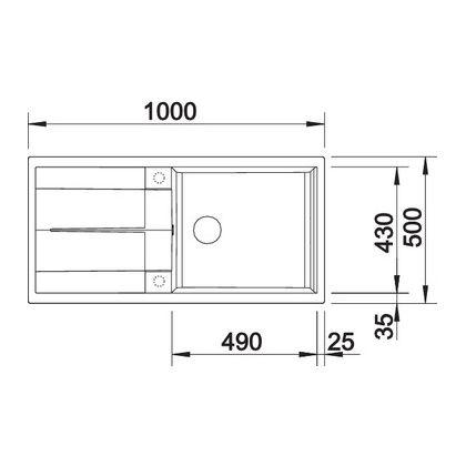 Chiuveta de bucatarie Blanco METRA XL 6 S silgranit, trufe, 517359, 100 cm