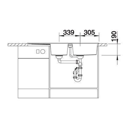 Chiuveta de bucatarie Blanco METRA 8 S silgranit, trufe, 517357, 116 cm