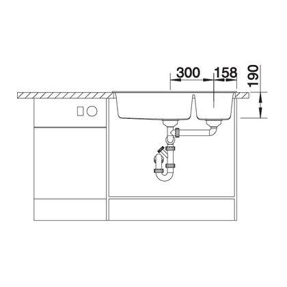 Chiuveta de bucatarie Blanco METRA 9 silgranit, trufe, 517364, 86 cm