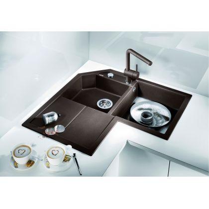 Chiuveta de bucatarie Blanco METRA 9 E silgranit, cafea, 515573, 83 cm