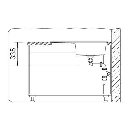 Chiuveta de bucatarie Blanco METRA 9 E silgranit, sampanie, 515570, 83 cm