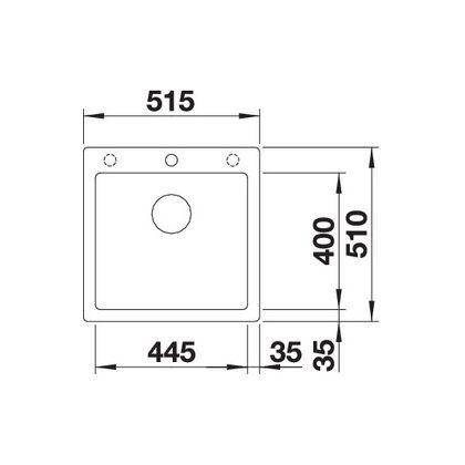 Chiuveta de bucatarie Blanco PLEON 5 silgranit, gri piatra, 521669, 51,5 cm