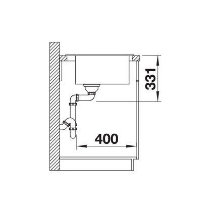 Chiuveta de bucatarie Blanco PLEON 5 silgranit, gri perlat, 521671, 51,5 cm