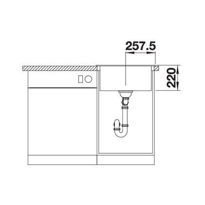 Chiuveta de bucatarie Blanco PLEON 5 silgranit, trufe, 521675, 51,5 cm