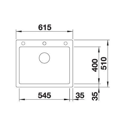 Chiuveta de bucatarie Blanco PLEON 6 silgranit, gri piatra, 521679, 61,5 cm