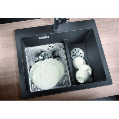 Chiuveta de bucatarie Blanco PLEON 6 SPLIT silgranit, gri piatra, 521690, 61,5 cm