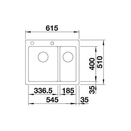 Chiuveta de bucatarie Blanco PLEON 6 SPLIT silgranit, trufe, 521696, 61,5 cm