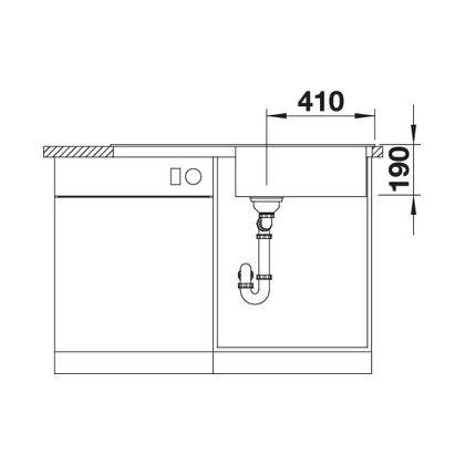 Chiuveta de bucatarie Blanco SONA XL 6 S silgranit, trufe, 519696, 100 cm