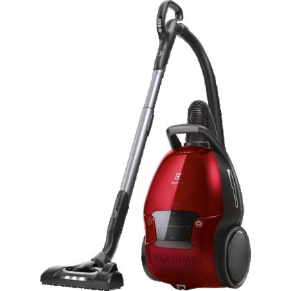 Aspirator cu sac Electrolux Pure D9 PD91-ANIMA, 650 W, rosu chili, A+, perie FlowMotion cu LED