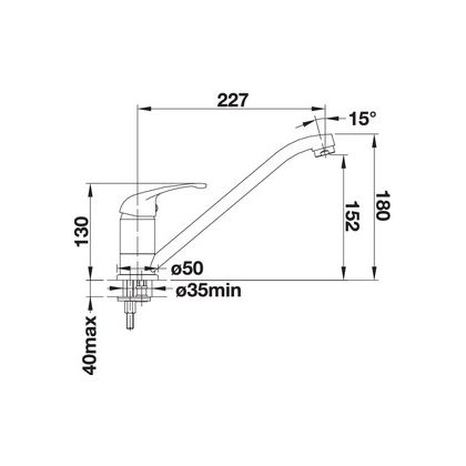 Baterie de bucatarie Blanco DARAS, silgranit, sampanie, 517726