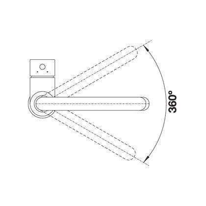 Baterie de bucatarie Blanco MIDA, silgranit, gri piatra, 519424