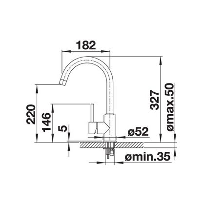 Baterie de bucatarie Blanco MIDA, silgranit, gri perlat, 520748