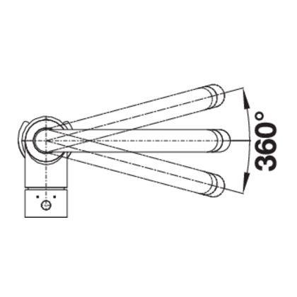 Baterie de bucatarie Blanco MIDA-S, silgranit, sampanie, 521459
