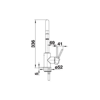 Baterie de bucatarie Blanco MIDA-S, silgranit, gri perlat, 521463