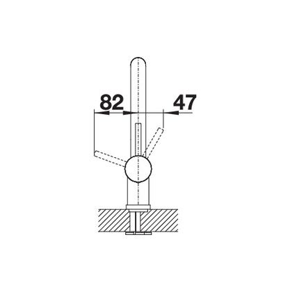 Baterie de bucatarie Blanco LINUS, silgranit, gri perlat, 520746