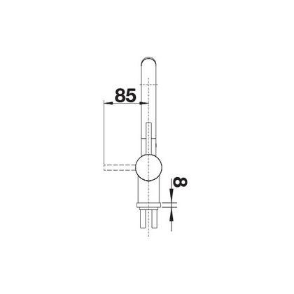 Bateria de bucatarie Blanco LINUS-S, Silgranit, antracit, 516688, extractabil
