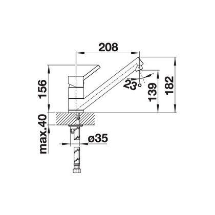 Bateria de bucatarie Blanco ANTAS SILGRANIT / CROM, antracit, 515345