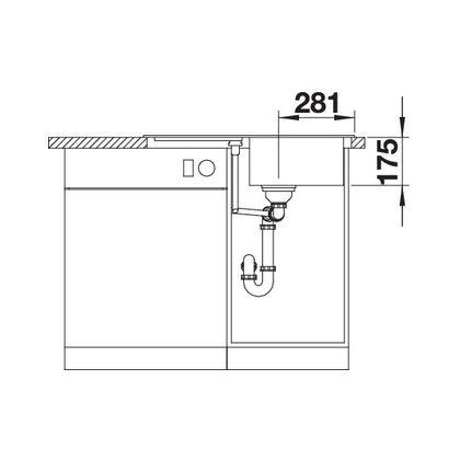 Chiuveta de bucatarie BLANCO CLASSIC 45 S Silgranit, cafea, 521313, 78 cm