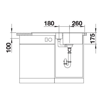 Chiuveta de bucatarie BLANCO CLASSIC 5 S Silgranit, cafea, 521319, 91,5 cm