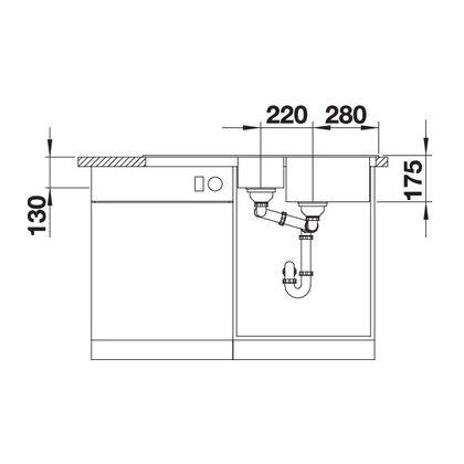 Chiuveta de bucatarie BLANCO CLASSIC 6 S Silgranit, cafea, 521325, 100 cm