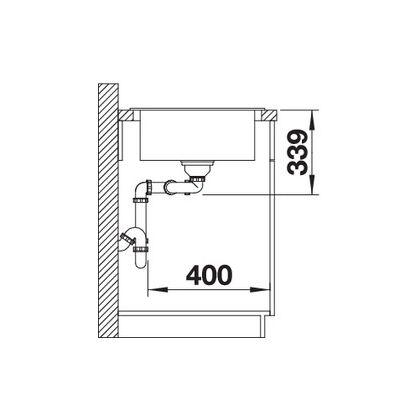 Chiuveta de bucatarie BLANCO CLASSIC 8 S Silgranit, alumetalic, 521327, 116 cm