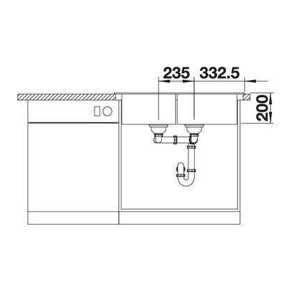 Chiuveta de bucatarie BLANCO CLASSIC 8 Silgranit, alumetalic, 511685, 86 cm