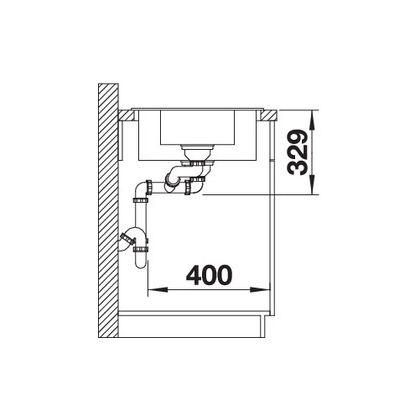 Chiuveta de bucatarie BLANCO LEGRA 6 S Compact, Silgranit, cafea, 521307, 78 cm