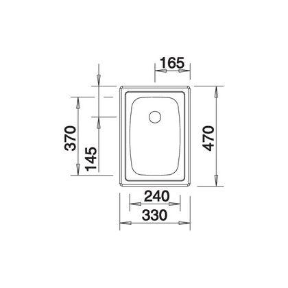 Chiuveta de bucatarie BLANCO TOP EE 3x4, inox, 501067, 33 cm