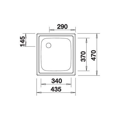 Chiuveta de bucatarie BLANCO TOP EE 4 x 4, inox, 501065, 43,5 cm