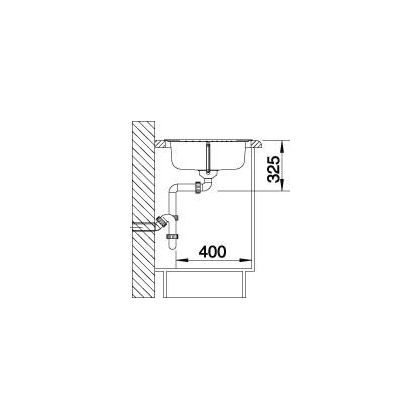 Chiveta de bucatarie BLANCO TIPO 45 S COMPACT FINISAJ NATUR, inox, 513441, 78 cm