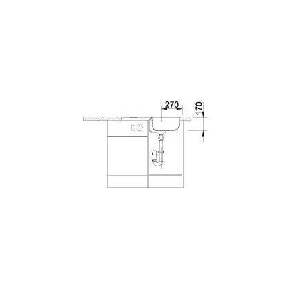 Chiveta de bucatarie BLANCO TIPO 45 S COMPACT FINISAJ PERIAT, inox, 513442, 78 cm