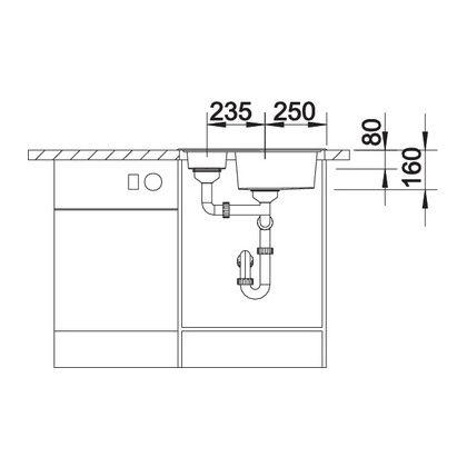 Chiveta de bucatarie BLANCO TIPO 6 BASIC, inox, 514813, 60,5 cm