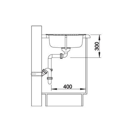 Chiveta de bucatarie BLANCO TIPO 45 S MINI LEINEN, inox, 516525, 60,5 cm