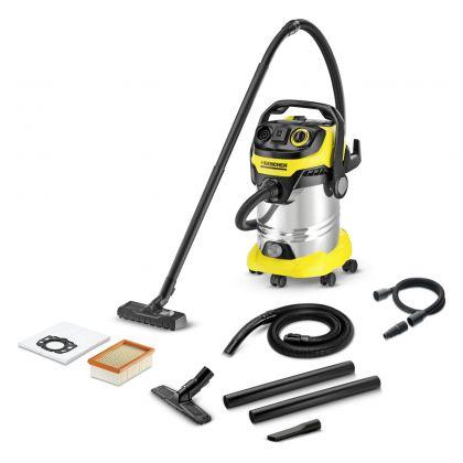 Aspirator multifunctional cu sac Karcher WD 6 P Premium Renovation Kit, 1.348-277.0, 260 AW, uscat-umed, accesorii curatenie renovare