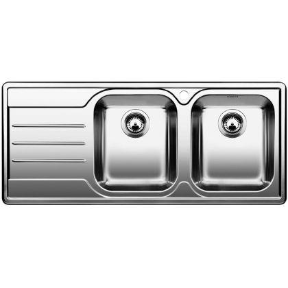 Chiveta de bucatarie BLANCO MEDIAN 8 S 18/10 cuva dreapta, inox, 512652, 116 cm