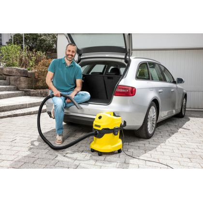 Aspirator multifunctional cu sac Karcher WD 4 Car Kit, 1.348-116.0, uscat-umed, 220 AW