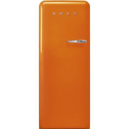 Frigider retro Smeg FAB28LOR3, portocaliu, A+++, ventilat, inverter, tratament antibacterian