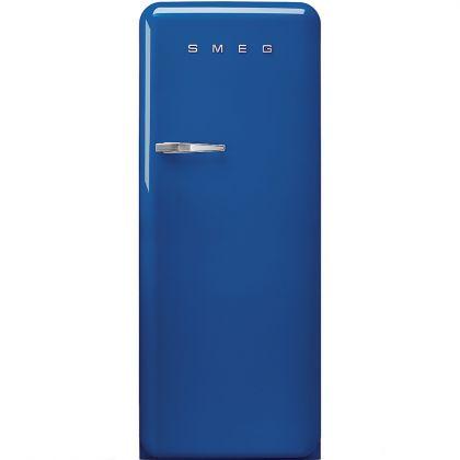 Frigider retro Smeg FAB28RBE3, albastru, A+++, ventilat, inverter, tratament antibacterian, balamale dreapta