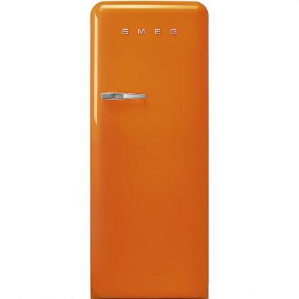 Frigider retro Smeg FAB28ROR3, portocaliu, A+++, ventilat, inverter, tratament antibacterian, balamale dreapta