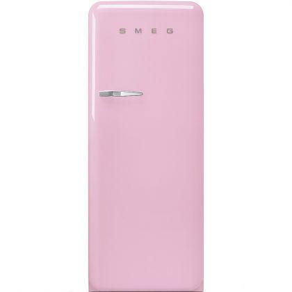 Frigider retro Smeg FAB28RPK3, roz, A+++, ventilat, inverter, tratament antibacterian, balamale dreapta